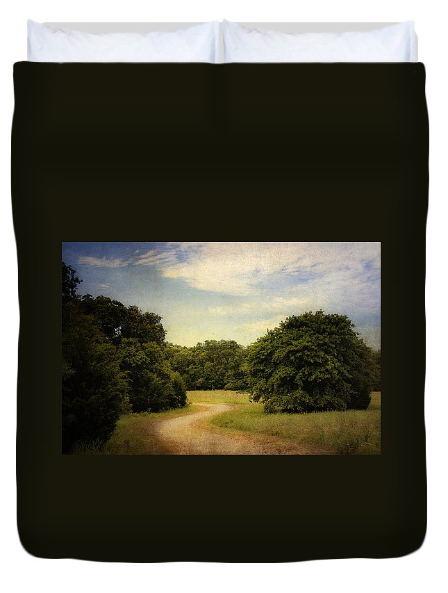 Landscape Duvet Cover featuring the photograph Wandering Path II by Tamyra Ayles