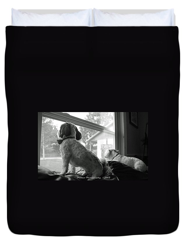 Dog Duvet Cover featuring the photograph Wanting You by G Adam Orosco