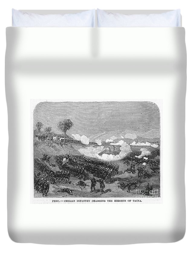 1880s Duvet Cover featuring the photograph War Of The Pacific, 1879-1884 by Granger