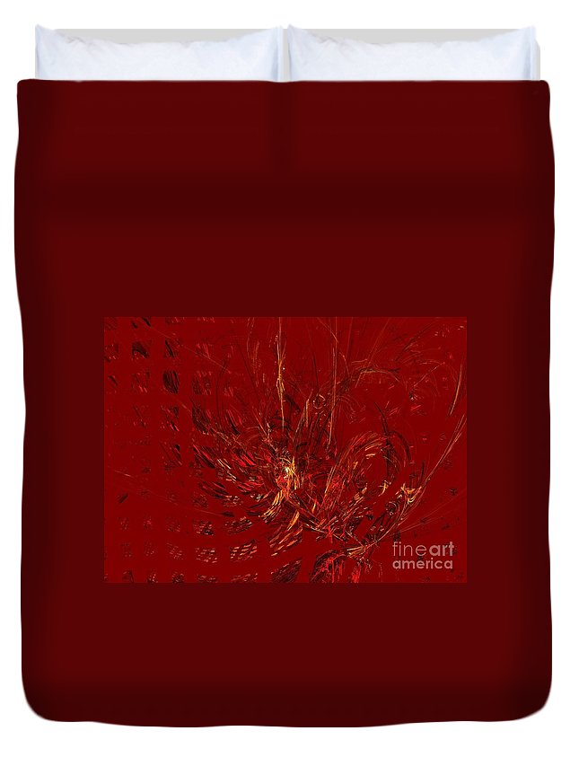 Apophysis Duvet Cover featuring the digital art Warmth by Kim Sy Ok