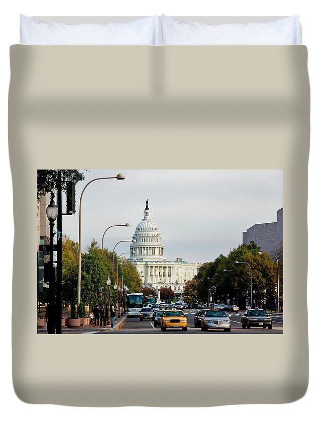Duvet Cover featuring the photograph Washington 4 by Burney Lieberman
