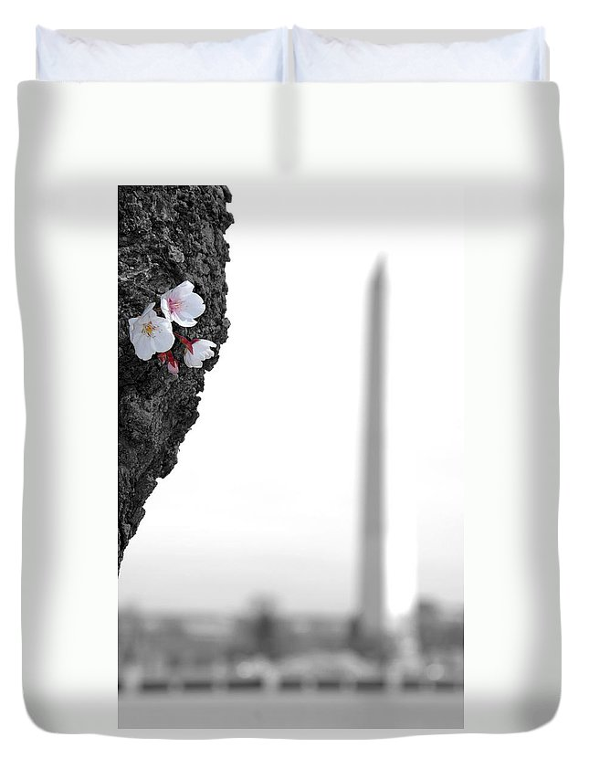 Washington Duvet Cover featuring the photograph Washington Blooms by Kelvin Booker
