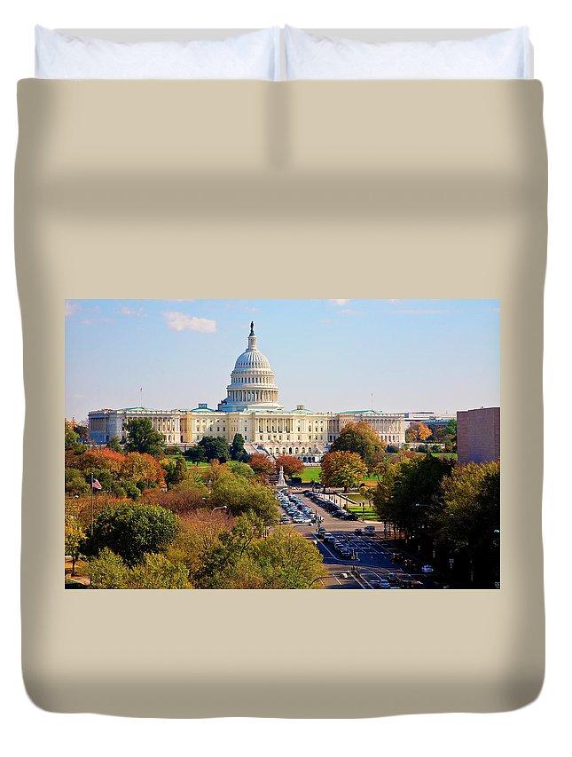 Washington Duvet Cover featuring the photograph Washington by Burney Lieberman