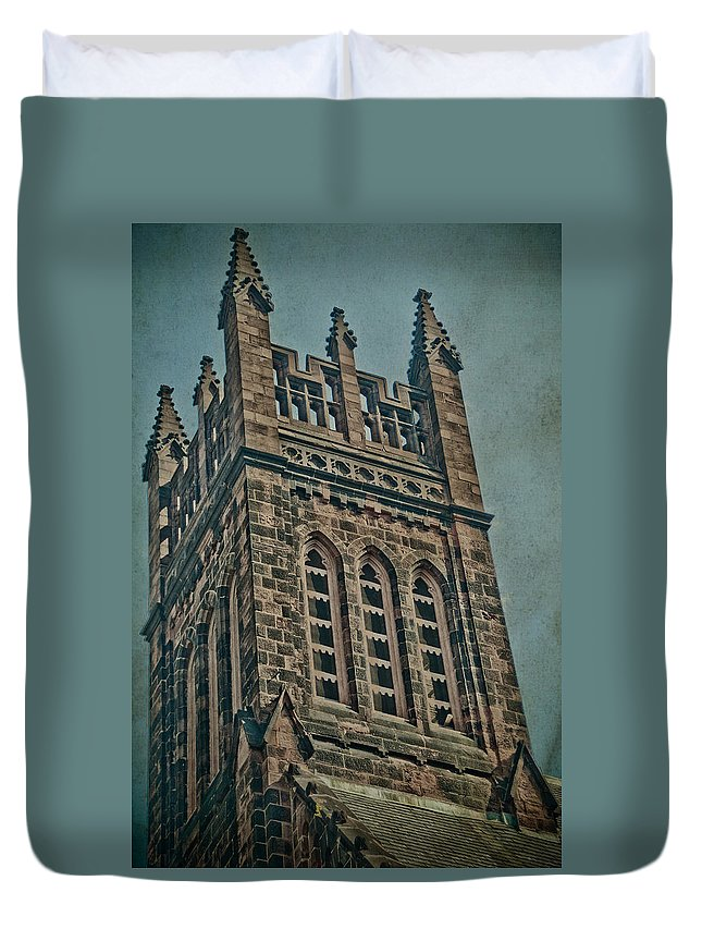 Church Duvet Cover featuring the photograph Washington Street by Trish Tritz