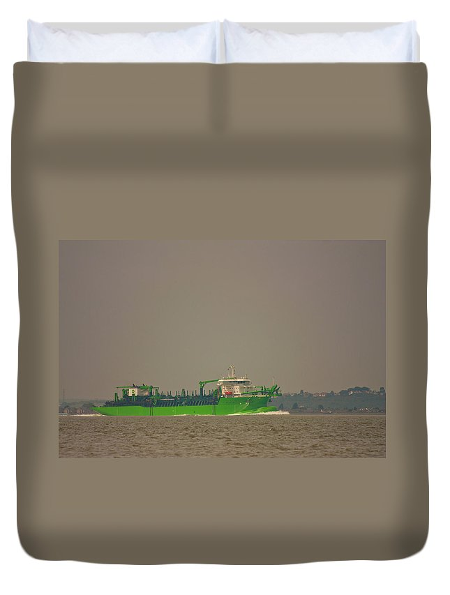 All Hallows Duvet Cover featuring the photograph Waste Disposal by Dawn OConnor