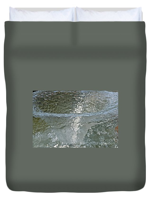 Water Duvet Cover featuring the photograph Water Wall by Susan Herber