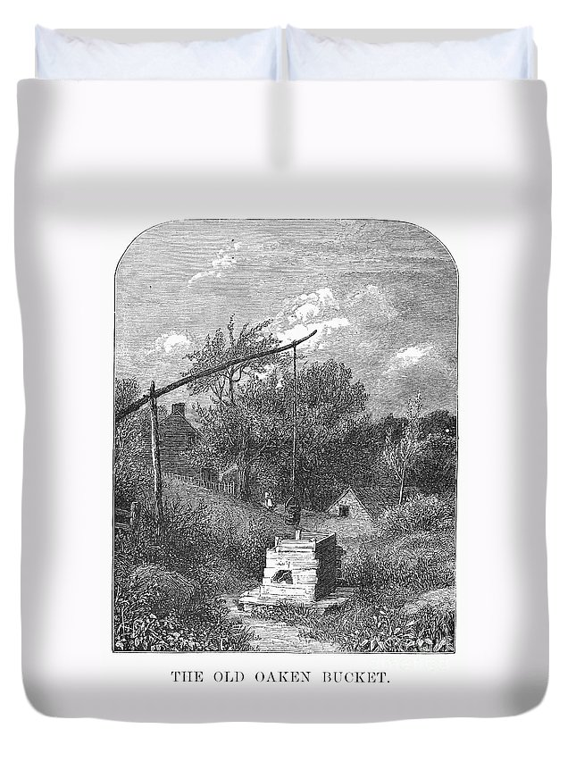 1880 Duvet Cover featuring the photograph Water Well, C1880 by Granger
