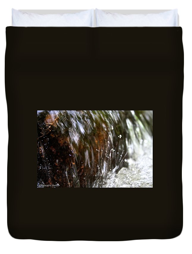 Outdoors Duvet Cover featuring the photograph Water Wrapped by Susan Herber