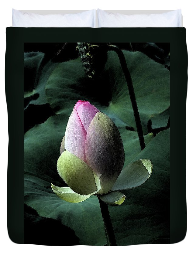 Lotus Duvet Cover featuring the photograph Watercolor Lotus by Carolyn Stagger Cokley