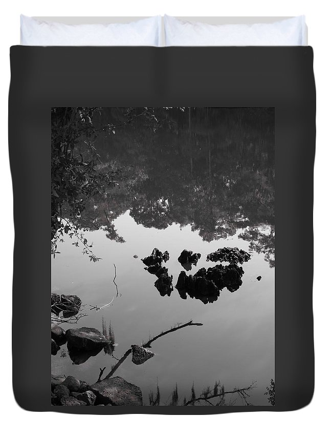 Water Duvet Cover featuring the photograph Watery Reflections by Michele Nelson