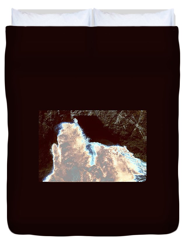 Water Duvet Cover featuring the photograph Waves At Arch Rock by One Rude Dawg Orcutt