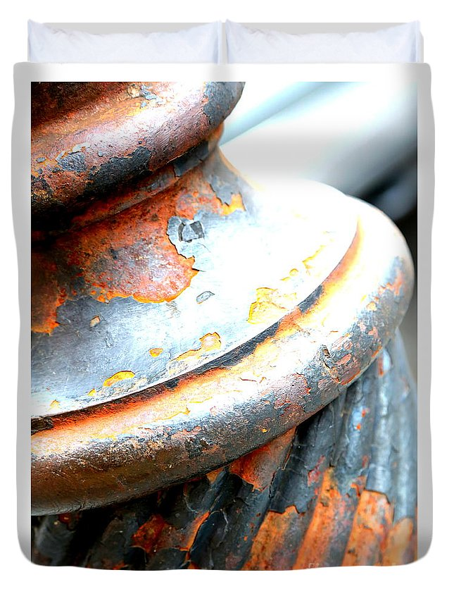 New Orleans Duvet Cover featuring the photograph Weathered Column by Carol Groenen