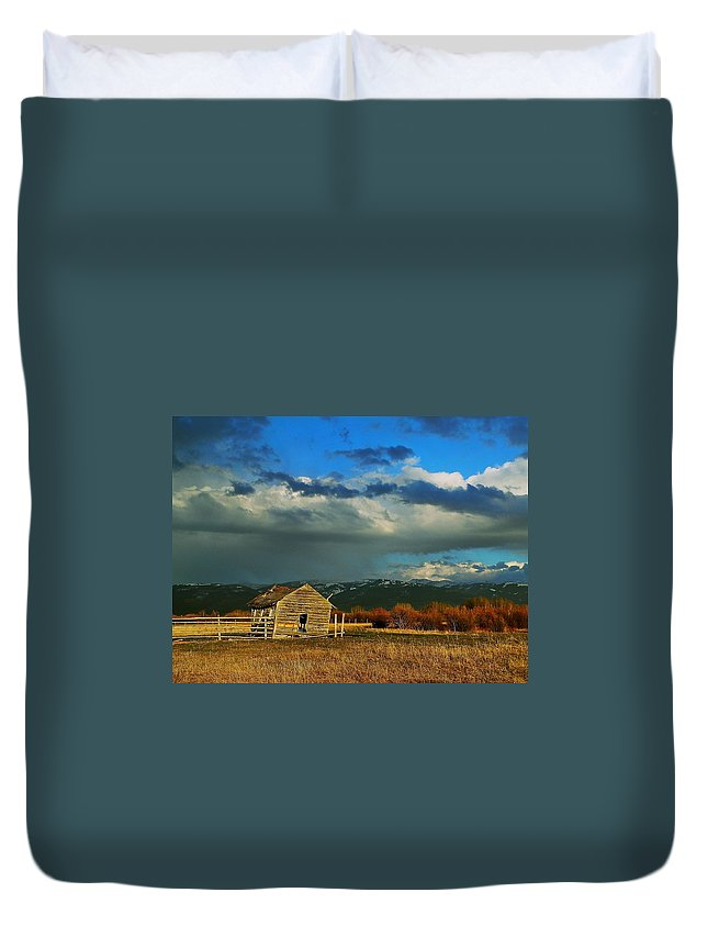 Weathered Duvet Cover featuring the photograph Weathered by Eric Tressler