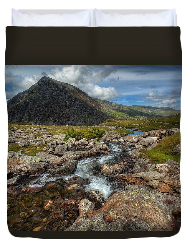 Flowers Duvet Cover featuring the photograph Welsh Valley by Adrian Evans