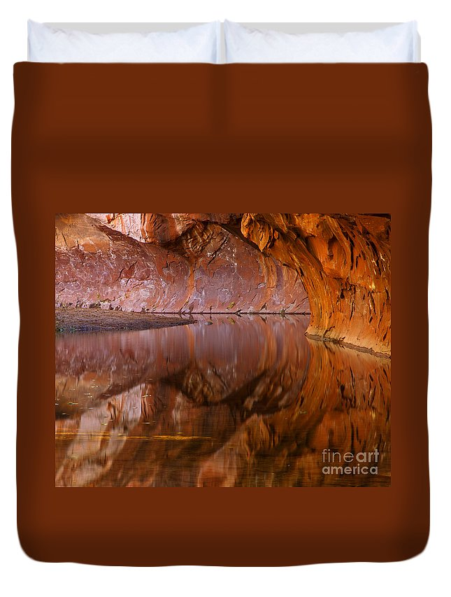 West Fork Duvet Cover featuring the photograph West Fork Illusion by Mike Dawson