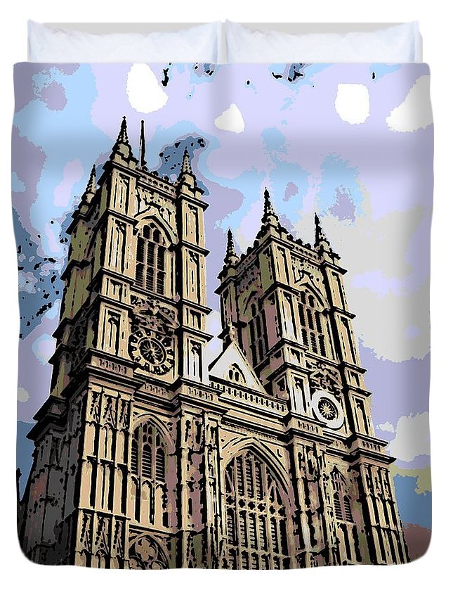 Westminster Duvet Cover featuring the photograph Westminster Abbey by George Pedro