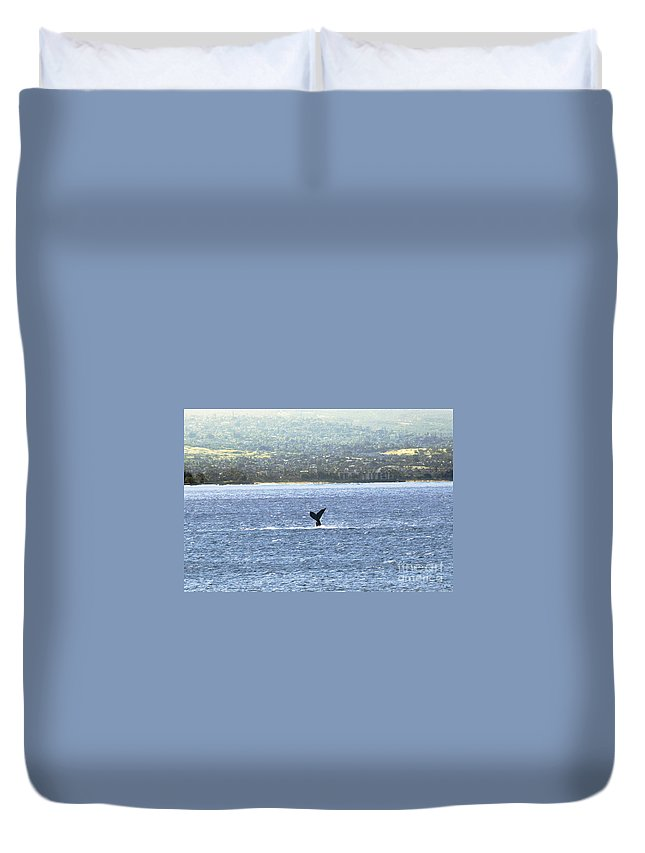 Fine Art Photography Duvet Cover featuring the photograph Whale Tail II by Patricia Griffin Brett