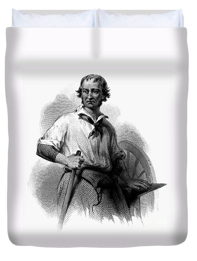19th Century Duvet Cover featuring the photograph Wheelwright, 19th Century by Granger