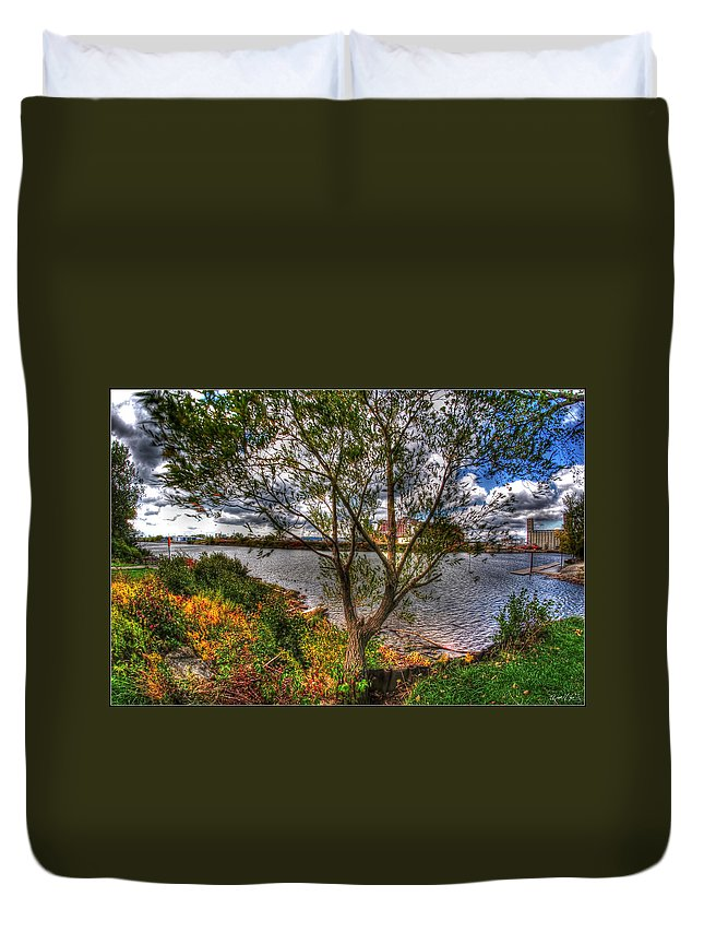 Duvet Cover featuring the photograph When The Wind Whistles by Michael Frank Jr