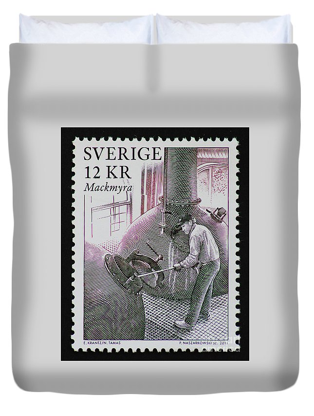 Whisky Duvet Cover featuring the photograph Whisky Postage Stamp Print by Andy Prendy