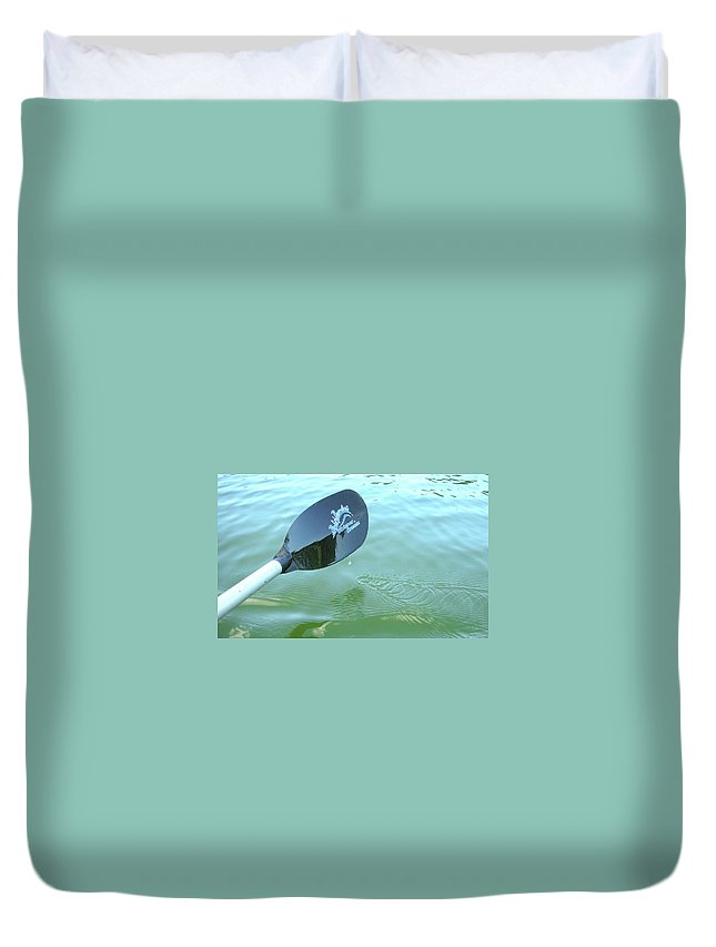 Kayak Duvet Cover featuring the photograph Whisper And Dream by Guy Whiteley