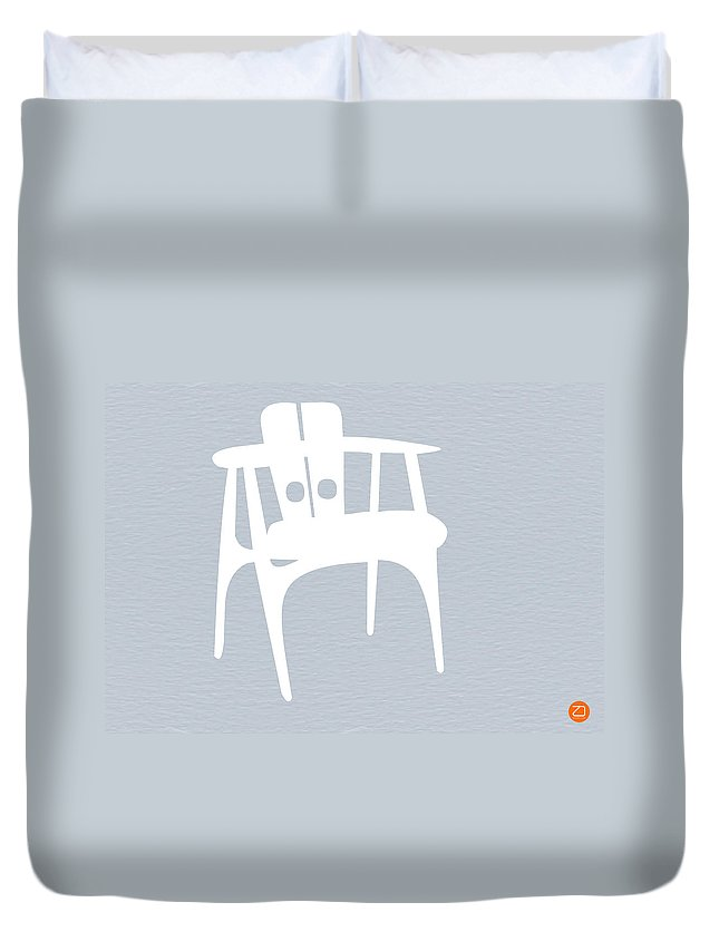 Eames Chair Duvet Cover featuring the photograph White Chair by Naxart Studio