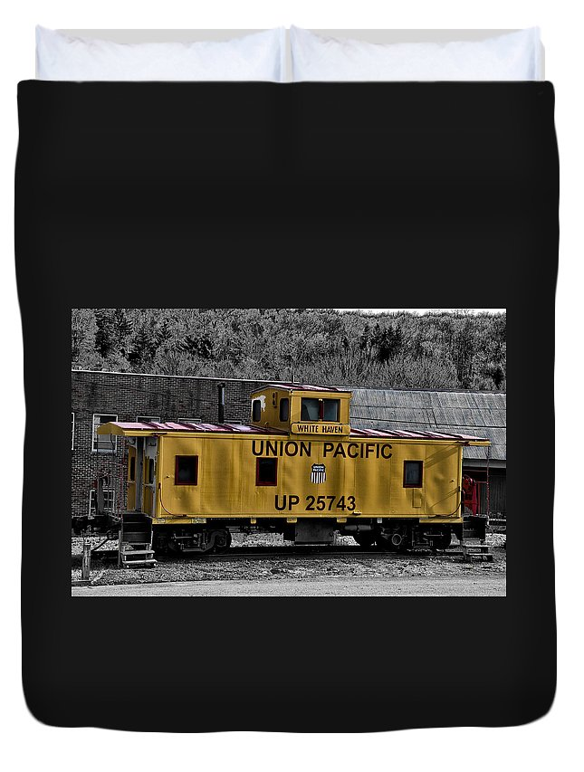 White Haven Duvet Cover featuring the photograph White Haven - Union Pacific by Bill Cannon