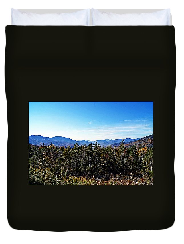 White Mountain Duvet Cover featuring the photograph White Mountain National Forest II by Joe Faherty
