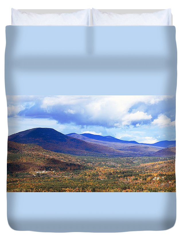 White Mountains Duvet Cover featuring the photograph White Mountains Vista by Roupen Baker