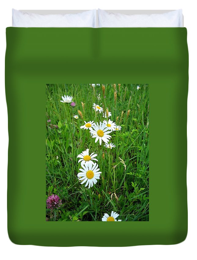 Flowers Duvet Cover featuring the photograph Wild Flowers by April Patterson