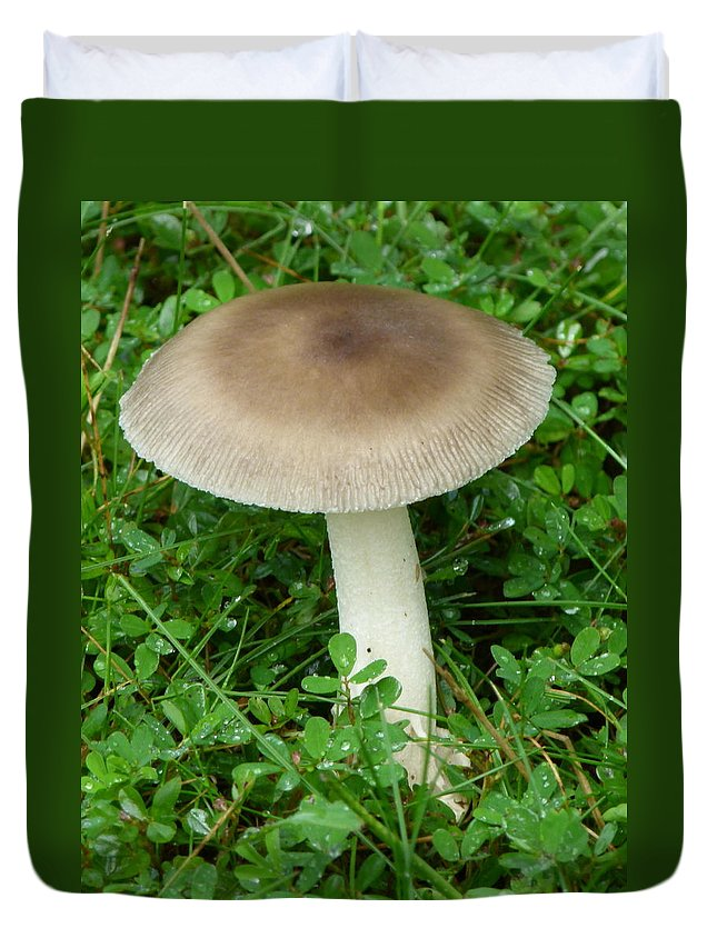 Mushroom Duvet Cover featuring the photograph Wild Mushroom by Richard Bryce and Family
