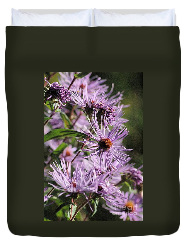 Purple Duvet Cover featuring the photograph Wildflower Days by Trish Hale