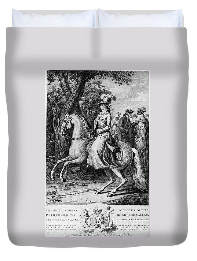 1779 Duvet Cover featuring the photograph Wilhelmina Of Prussia by Granger