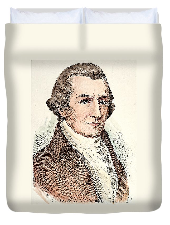 18th Century Duvet Cover featuring the photograph William Bradford (1722-1791) by Granger