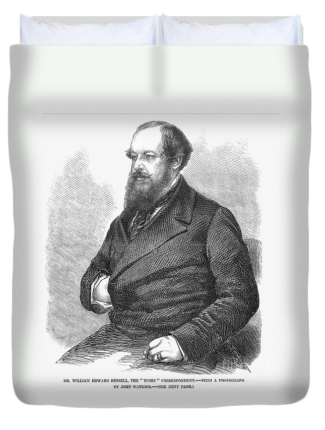 19th Century Duvet Cover featuring the photograph William Howard Russell by Granger