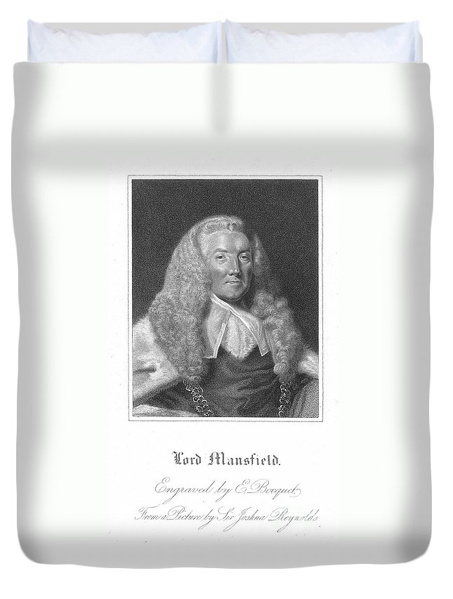18th Century Duvet Cover featuring the photograph William Murray (1705-1793) by Granger