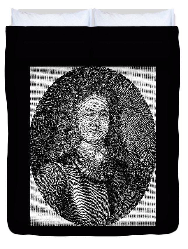 18th Century Duvet Cover featuring the photograph William Rhett (died C1716) by Granger