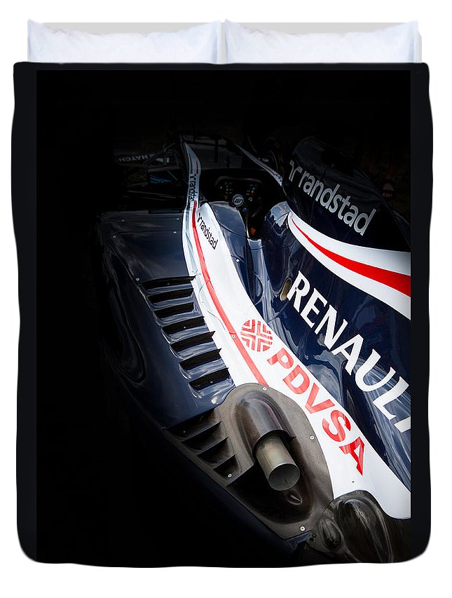 Williams Renault Duvet Cover featuring the photograph Williams F1 by Ken Brannen