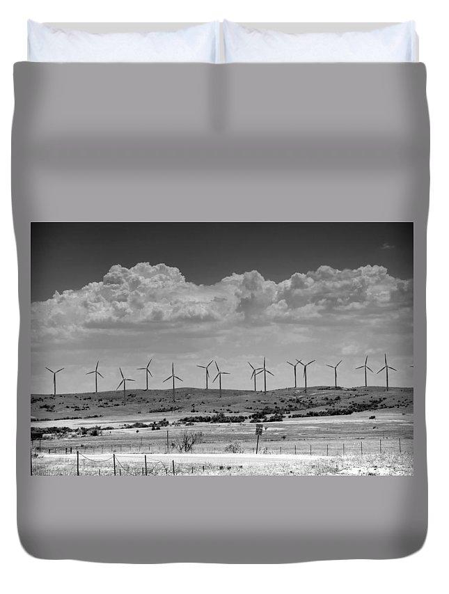 Aerogenerator Duvet Cover featuring the photograph Wind Farm II by Ricky Barnard