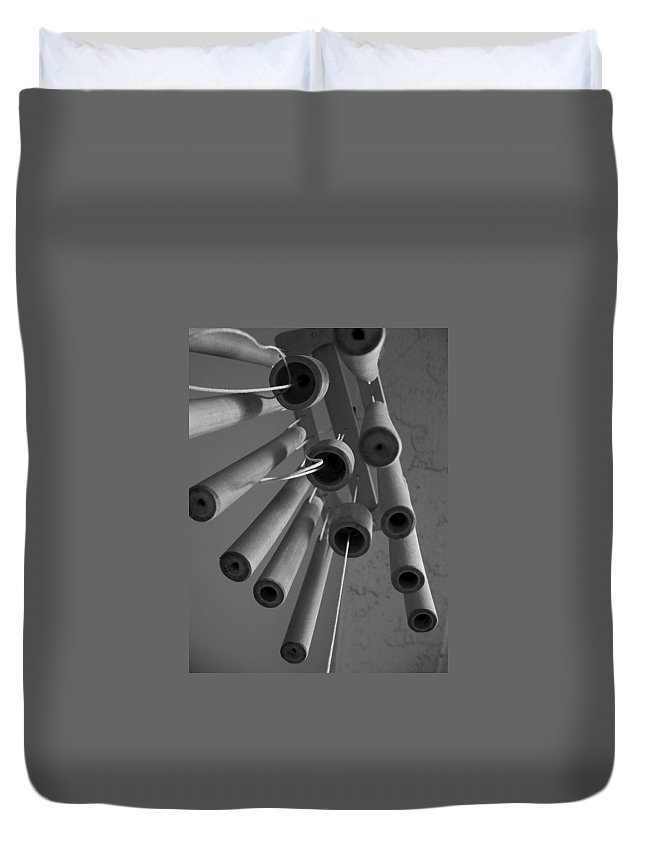 Windchime Duvet Cover featuring the photograph Windchime 2 by David Weeks