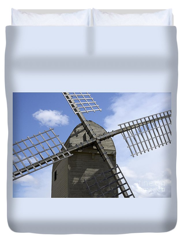 Windmill Duvet Cover featuring the photograph Windmill 10 by Bob Christopher
