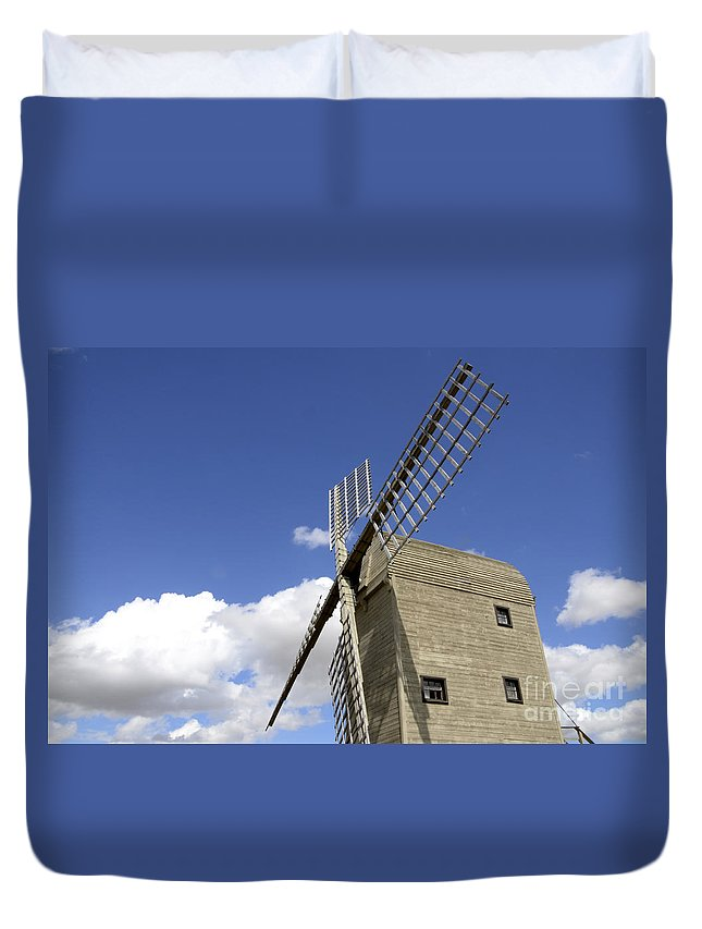 Windmill Duvet Cover featuring the photograph Windmill 7 by Bob Christopher