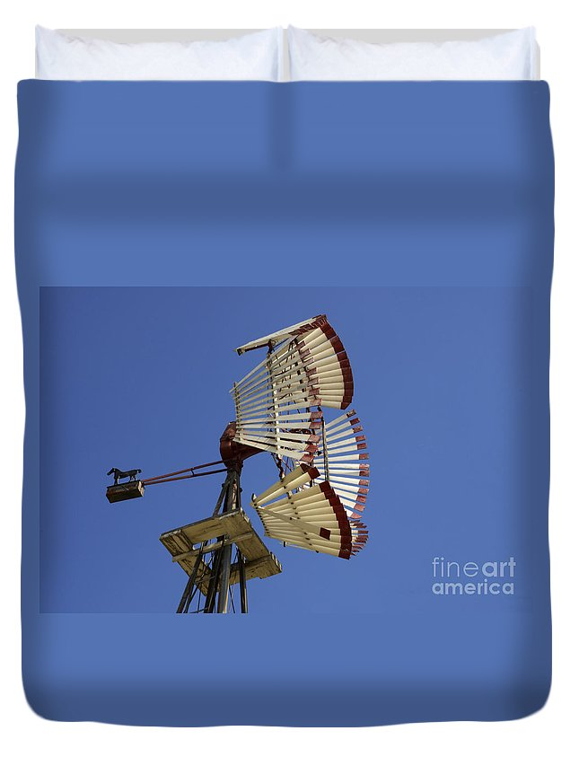 Windmill Duvet Cover featuring the photograph Windmill 8 by Bob Christopher