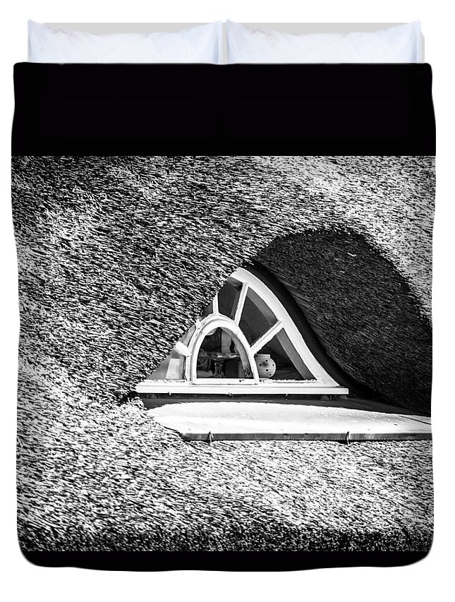 Ralf Kaiser Duvet Cover featuring the photograph Window In A Roof by Ralf Kaiser