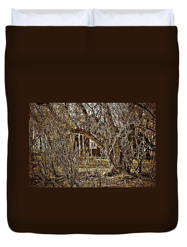 Duvet Cover featuring the photograph Window Of Roots by The Artist Project