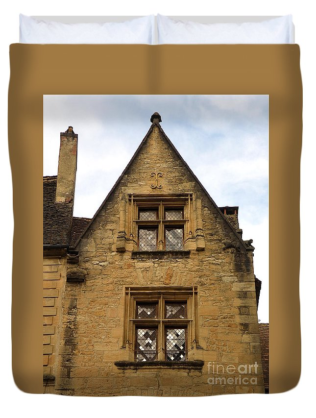 Windows Duvet Cover featuring the photograph Windows Of Sarlat by Lainie Wrightson