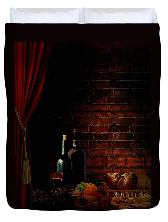 Wine Duvet Cover featuring the photograph Wine Lifestyle by Lourry Legarde