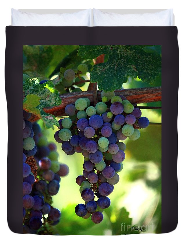 Grapes Duvet Cover featuring the photograph Wine To Be by Patrick Witz