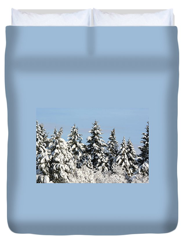 Winter Duvet Cover featuring the photograph Winter 0005 by Carol Ann Thomas