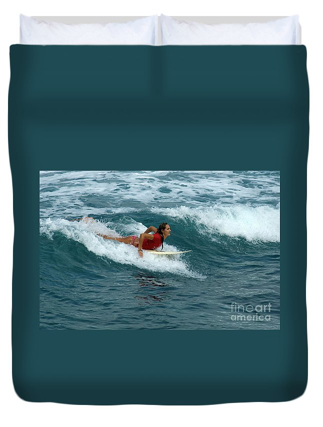 Winter Duvet Cover featuring the photograph Winter In Hawaii 1 by Bob Christopher